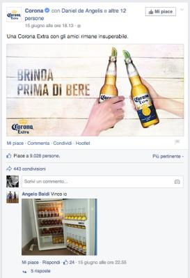 corona - post facebook