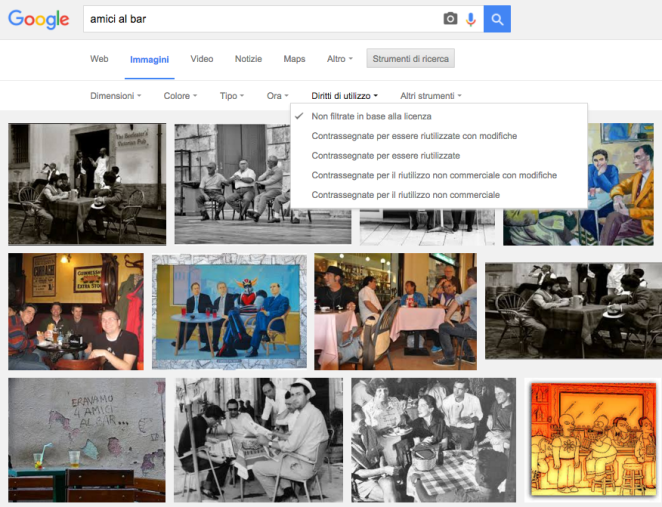 filtri immagini google