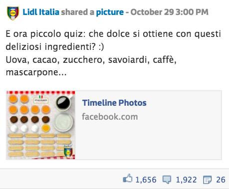 Post Lidl Facebook quiz