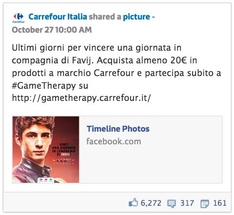 Post Carrefour Facebook