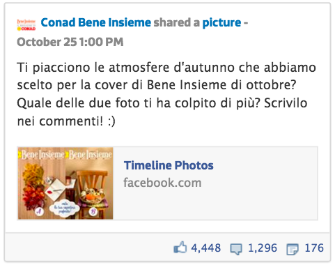 Post Conad Facebook