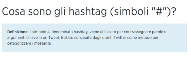 definizione hasthtag twitter