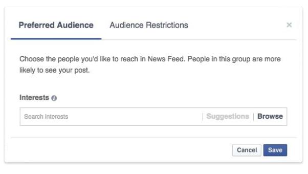 Facebook Audience optimization feature - Preferred