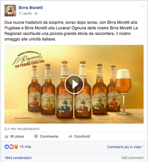 best post birra moretti - facebook