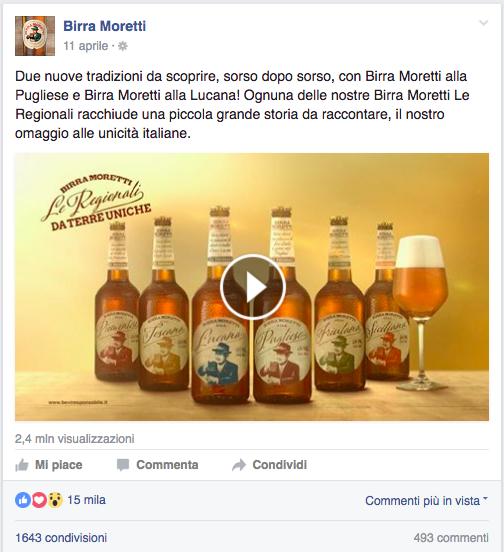 best post birra moretti - facebook