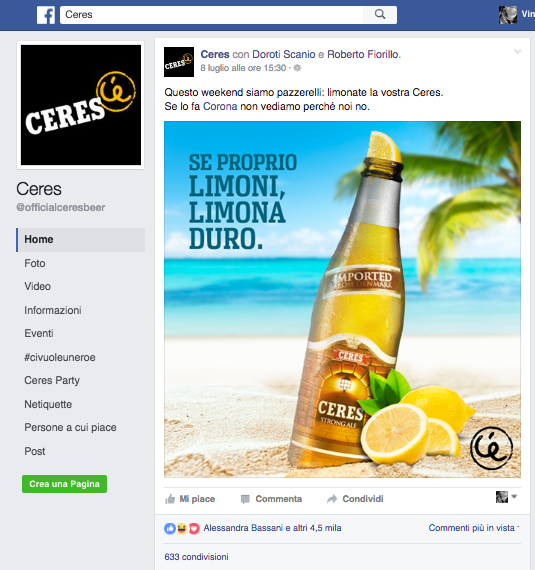 fagina facebook - corona - post