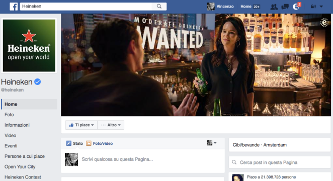 pagina facebook Heineken