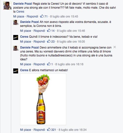 risposte corona su Facebook