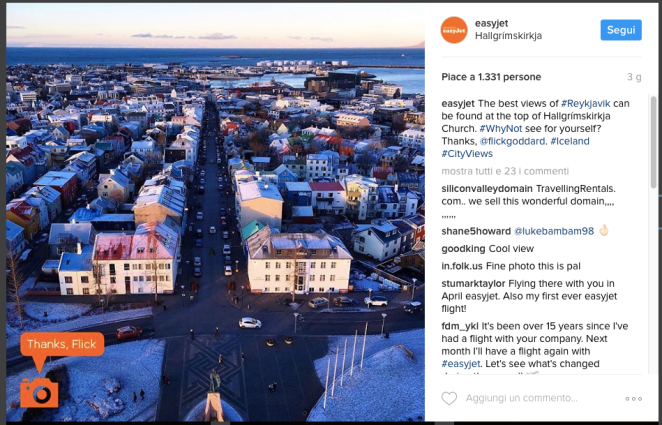 Regram Instagram case history EasyJet
