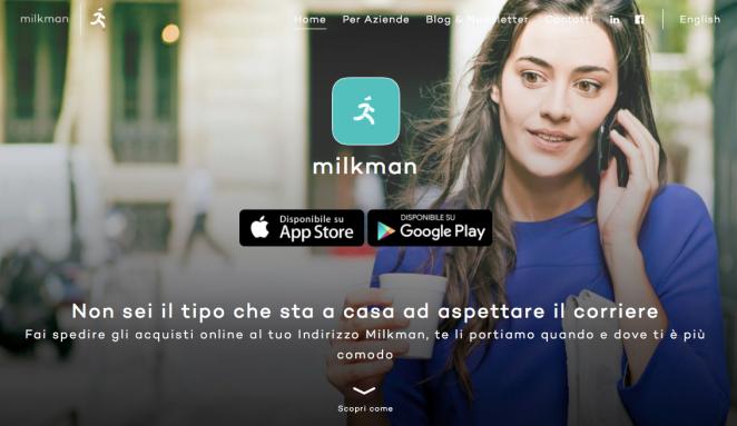 Milkman consegne a domicilio