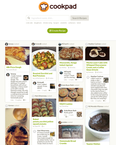 CookPad - Homepage