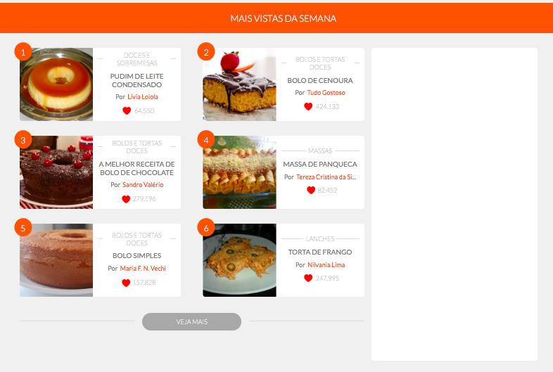 I 20 siti di cucina e ricette pi visitati al mondo a for Siti di ricette cucina